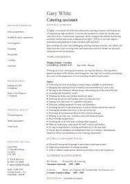 Resume Examples For Hospitality by Free Catering Cv Template Samples Catering Jobs Event Catering