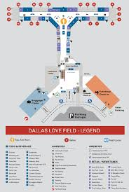 Map Of Airports Usa by Dallas Love Field Airport Map