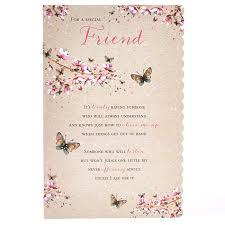 special friend birthday card butterflies u0026 flowers card factory