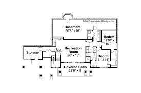 house plans with daylight basement prairie style house plans northshire 30 808 associated designs