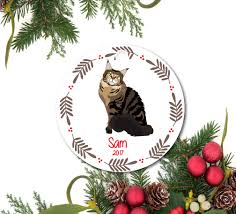 cat ornament pet ornament personalized cat ornament tabby