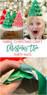 fabric christmas craft idea diy christmas tree party hats