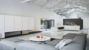 minimalist decor blog beige fabric sofa square wooden laminate