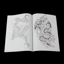 1pcs chinese dragon tattoo books popular basic tattoo design books