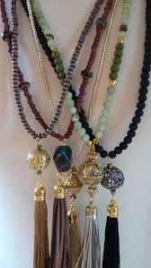long wood bead necklace images Wooden bead necklace with tassel jewelry jpg