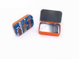 gift card tin rectangular metal tin box with window hinge gift cards packaging