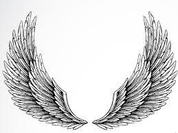 grey ink wings design