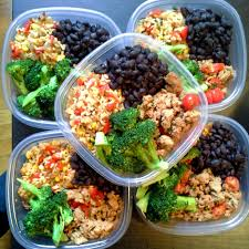 New Dinner Recipe Ideas Meal Prep Brown Rice With Peppers Steamed Broccoli Satueed