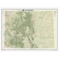 United States Map Mountains by Colorado Wall Map National Geographic Store