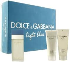 dolce and gabbana light blue price light blue gift set by dolce gabbana perfume for women 3 piece set