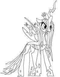 pony queen chrysalis coloring free printable