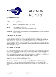 grant report template richmond ecia community grant program richmond ca official