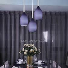 Purple Pendant Light Shade Shade 3 Light Shinning Purple Pendant Lights For Foyer