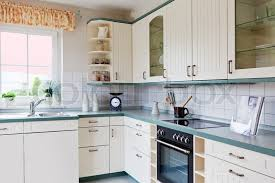 kitchen room interior modern house interior of modern kitchen room stock photo