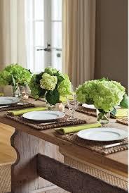 Pedestal In A Sentence Dinner In The Barn With Green Hydrangeas Flower Arrangements