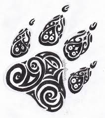 small tribal tiger paw henna designs clipart library