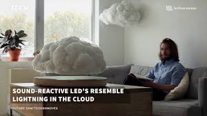 Living Room Bluetooth Speakers Tmc Tech This Floating Led Storm Cloud Is The Coolest Bluetooth