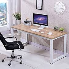 Home Desk Furniture by Amazon Com Tribesigns Modern Simple Style Computer Desk Pc