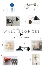 wall sconces in kids rooms u2014 chic little house