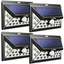 litom solar lights outdoor litom solar lights outdoor 3rd gen super bright plating solar