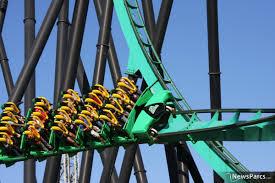 Bizarro Six Flags Great Adventure Newsparcs Green Lantern Extreme Thrill Coaster Debuts Today At