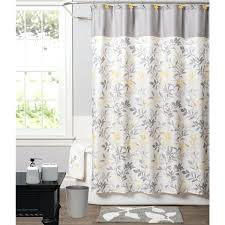 Target Gray Shower Curtain Knight Limited Trellis Polyester Yellow Patterned Shower Curtain