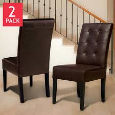 Leather Dining Room Furniture Dining Chairs Costco