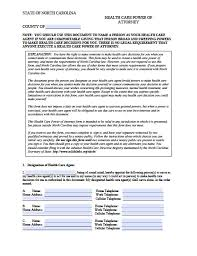 Springing Durable Power Of Attorney Form by North Carolina Limited Special Power Of Attorney Form Power Of