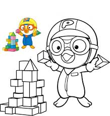 pororo coloring pages