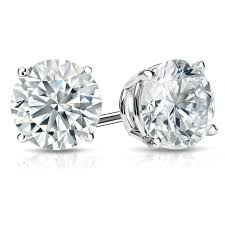 stud earings white gold platinum diamond stud earrings 0 20 4 00 ctw