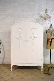 White Vintage Armoire Vintage Painted Shabby Chic Furniture