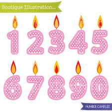 number birthday candles pink birthday candles clip number candles clip birthday