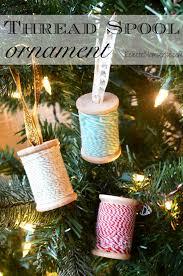thread spool ornament eclectic momsense