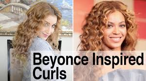 beyonce inspired hair tight curls with a cone shaped curling