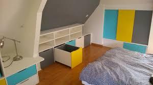 fabriquer une chambre chambre fabriquer meuble de rangement rangements en soupente