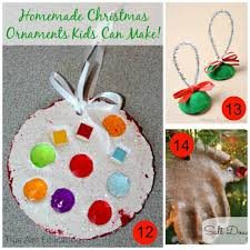 17 ideas for homemade ornaments and the the kids weekly co op link