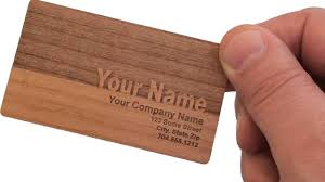 wooden business cards from woodenurecover