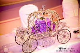 Cinderella S Coach Cinderella U0027s Coach And Purple Hydrangea Reception Centerpiece