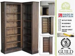 bookcase corner unit solid pine or oak 6ft tall adjustable corner bookcase