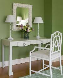 white lacquer desk cottage bedroom meg braff interiors