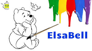 winnie the pooh coloring pages coloring pages for kids elsa