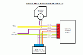405 one touch electric window fitting guide body interior and