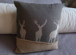 Stag Cushions Stags Helkat Design Hand Printed Originals Made In Britain