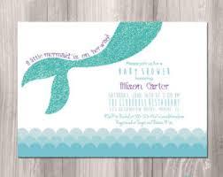 mermaid baby shower invitations mermaid baby shower invitations cloveranddot