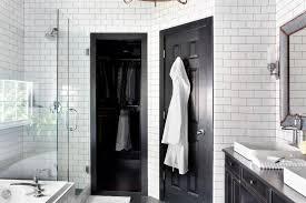 black and white bathroom design timeless black and white master bathroom makeover hgtv