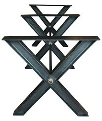 X Table Base Avantgarden X Frame Dining Table Base Industrial Transitional