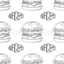 hamburger wrapping paper seamless pattern with burger cheeseburger or hamburger