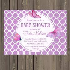 butterfly baby shower baby shower invitation templates purple butterfly baby shower