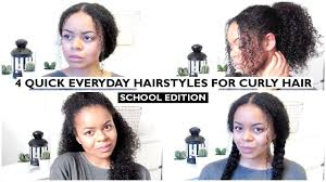 3c hair styles 4 quick everyday hairstyles for curly natural 3c hair school