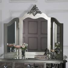 bedroom set with vanity table mirrored 3 drawer dressing table stool and mirror bedroom set